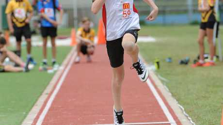 ON TRACK: Kai Matthews at the Nordic Sport Central Coast Regional Championships held at Bundaberg Region Athletics Complex on Sunday, 7 February 2016. Photo: Max Fleet / NewsMail