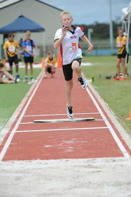 ON TRACK: Kai Matthews at the Nordic Sport Central Coast Regional Championships held at Bundaberg Region Athletics Complex on Sunday, 7 February 2016. Photo: Max Fleet / NewsMail