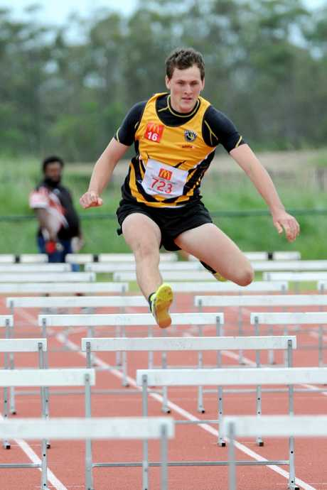 ON TRACK: Layton Chambers at the Nordic Sport Central Coast Regional Championships held at Bundaberg Region Athletics Complex on Sunday, 7 February 2016. Photo: Max Fleet / NewsMail
