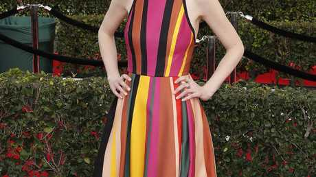 Michelle Dockery arrives for the 23rd annual Screen Actors Guild Awards ceremony at the Shrine Exposition Center in Los Angeles, California.
