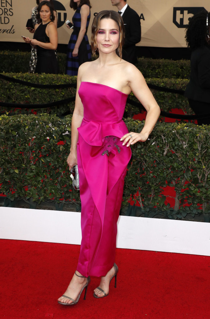 US actress Sophia Bush arrives for the 23rd annual Screen Actors Guild Awards ceremony at the Shrine Exposition Center in Los Angeles, California, USA, 29 January 2017.