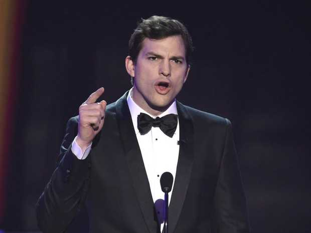 Ashton Kutcher presents the award for outstanding performance by a female actor in a comedy series at the 23rd annual Screen Actors Guild Awards at the Shrine Auditorium & Expo Hall on Sunday, Jan. 29, 2017, in Los Angeles.