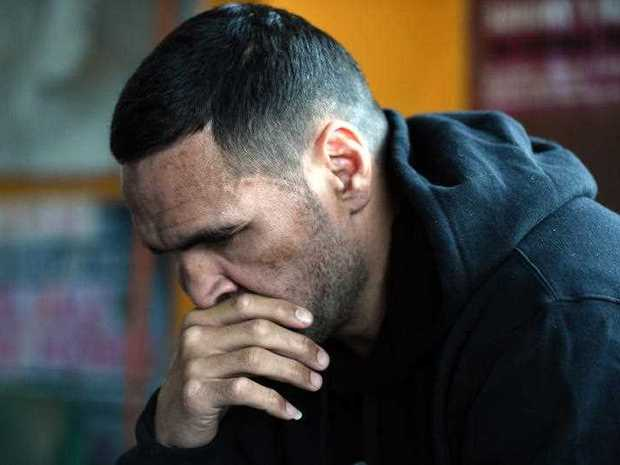 Boxer Anthony Mundine before a press conference at his Redfern gym in Sydney, Friday, Sept. 30, 2016. Mundine says he's considering a future in politics after calling for a boycott of the Australian national anthem at this weekend's AFL and NRL grand finals.