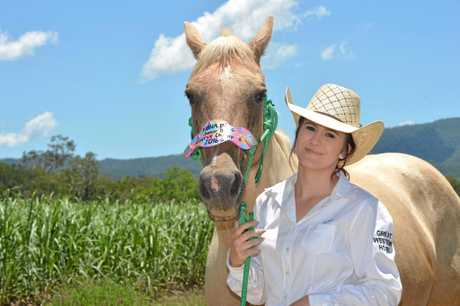 Cailan Evans and her horse Jet.