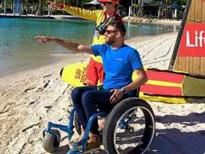 Wheelchair swimmer left high and dry