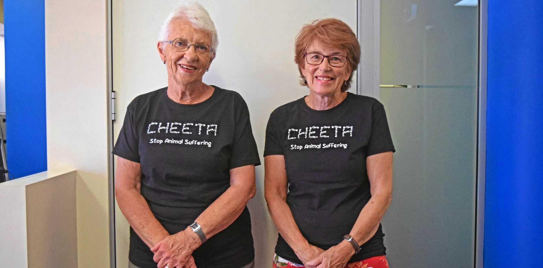 Community champion Kathy Jones from CHEETA with Maureen McKeown.