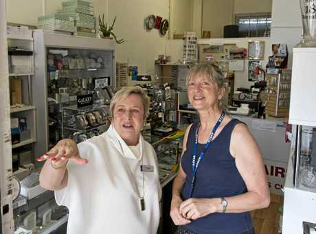 Toowoomba Chamber of Commerce president Joy Mingay (left) talks to small business owner Toula Elliott about the issues facing traders near the northern end of Ruthven St in the CBD.