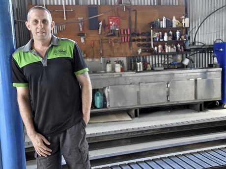 NEW BUSINESS: Mechanic Steve Lindenmayer has opened Steve's workshop at 78 Mort St.