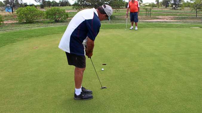 NO PROBLEM: Darryl Reardon nails an important putt.