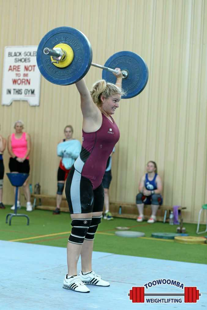 Chloe Kerwick was one of 11 members from Miles' Saints Weightlifting Club to travel to Toowoomba for the first Club Competition Round for 2016.