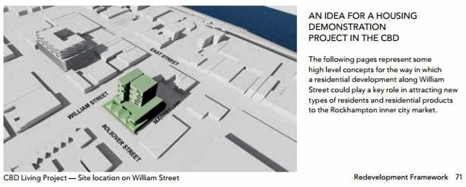 CBD Living Project: The site location of a mixed residential and commercial building on William St.