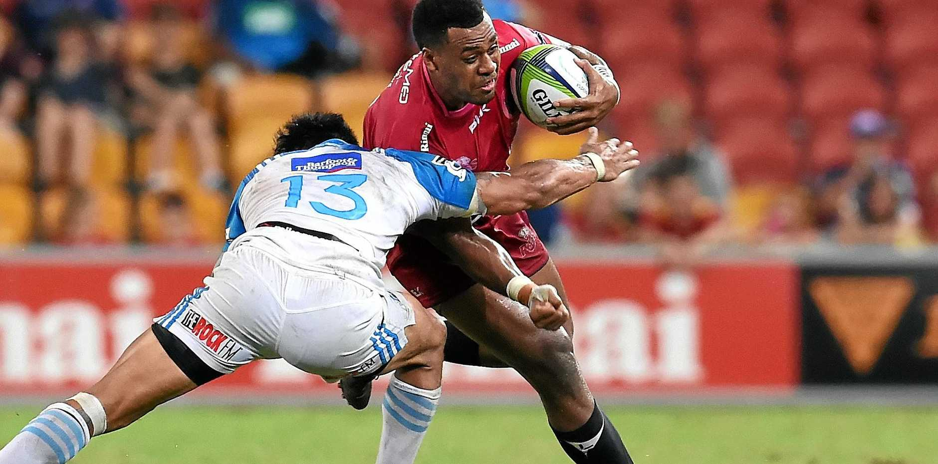 Samoa calling ... the Queensland Reds take on the Blues last season.