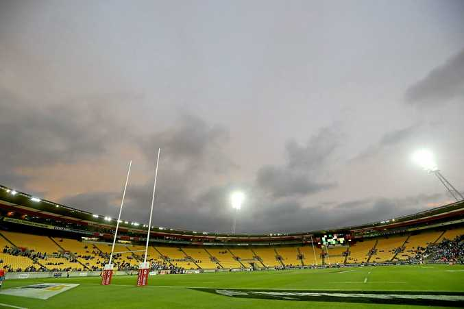 Under a cloud ... fans stayed away in droves for the final between Fiji and South Africaat Westpac Stadium
