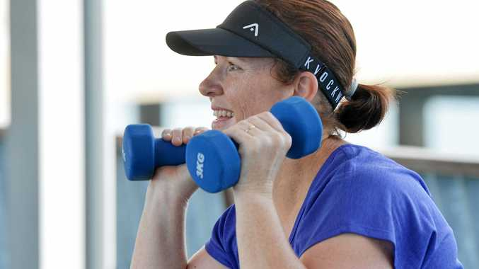 Renee Hobbs enjoys her excercise routine with Red E Personal Training.