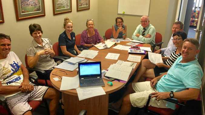 Mackay Marina Run committee committee Sandy Strong, Tracey Dean, Lassara Reinke, Chris Evangelou, Sam Sticklan, Damian Carrol, Barry Comben, Chris Comben, Tim Magoffin. (absent Agnes Farmer).