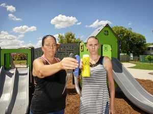 Kids find knives, syringes in Ipswich park