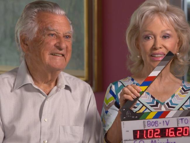 Bob Hawke and wife Blanche D'Alpuget during their 60 Minutes interview. Picture: Supplied/Nine