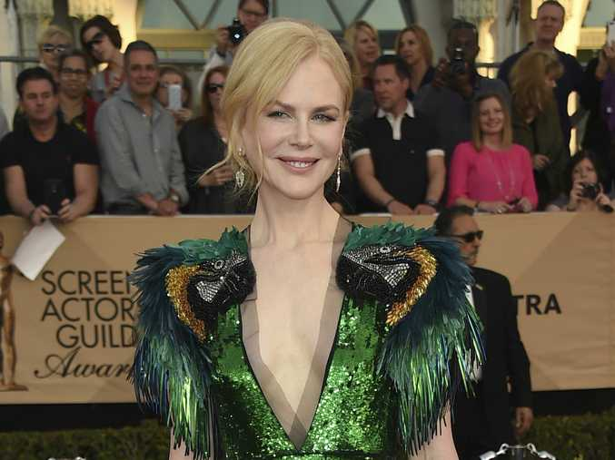 Nicole Kidman's bright and sparkling dress turned heads at the  SAG Awards.