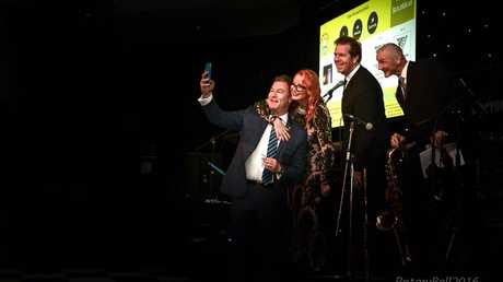 Gold Coast MP John-Paul Langbroek poses for a selfie at a Rotary charity ball. Source: Gold Coast Rotary website