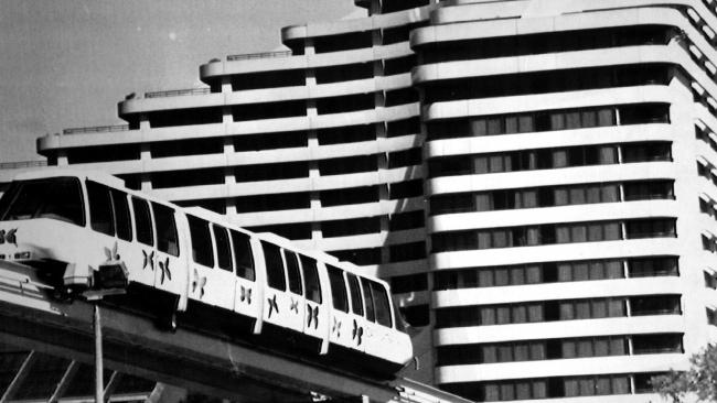 The Gold Coast monorail when it opened in 1989