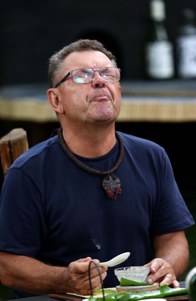 Steve Price struggles on the tucker trail.