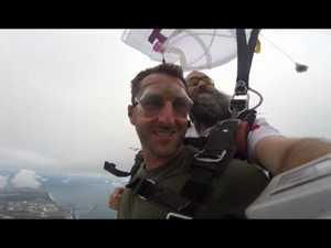 Suprise after skydive