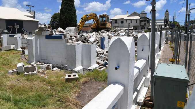 Church Pharmacy demolition.
