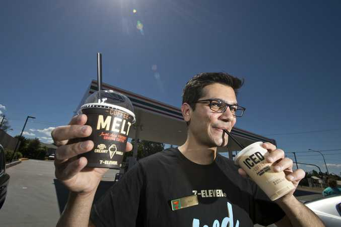 7-Eleven Harristown franchisee Rav Sahu says its perfect summer weather to try one the new iced coffee treats the brand has launched.
