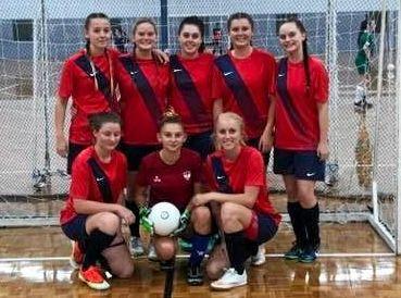 Mackay's U21 team (back) Jade Jacobs, Katie Muscat, Chloe Vidler, Gwen Lee and Emma Muscat and (front) Kristen Predebon, Tash Ridley and Carly Coyne.