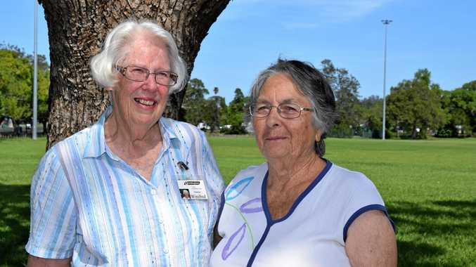 Uniting Care Transport Team founders Winifred Playford, left, and Shirley Smith.