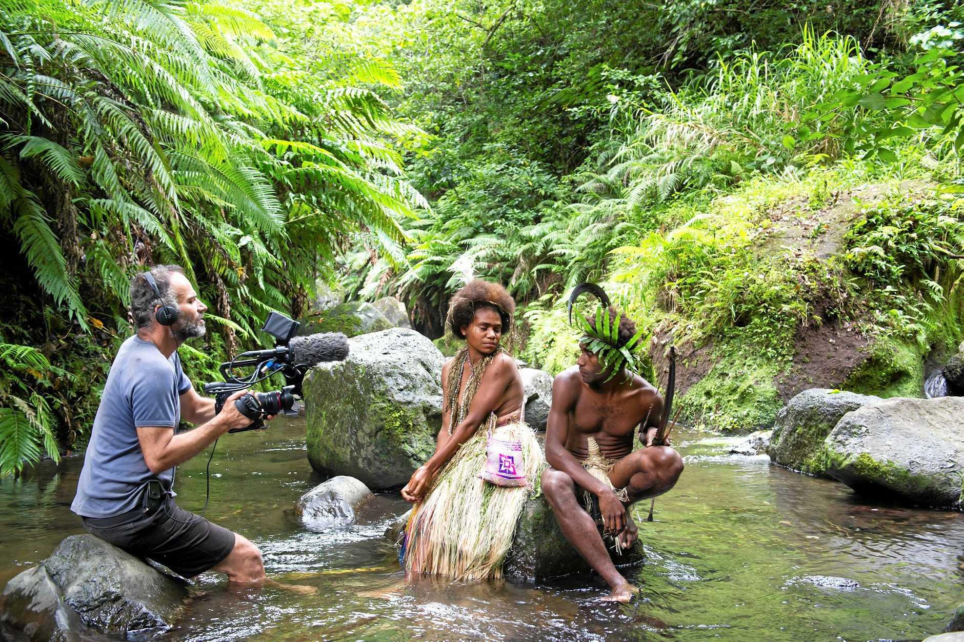 OSCAR HOPE: Bentley Dean filming Oscar nominated film Tanna in Vanuatu.