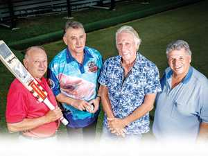 Legends of cricket rub shoulders at Rainbow Beach