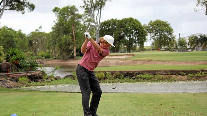 GOOD START: Cameron McFarlane hits to the green during last year's Burnett Cup.