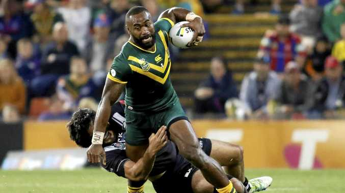 Semi Radradra playing for the Kangaroos in May 2016.