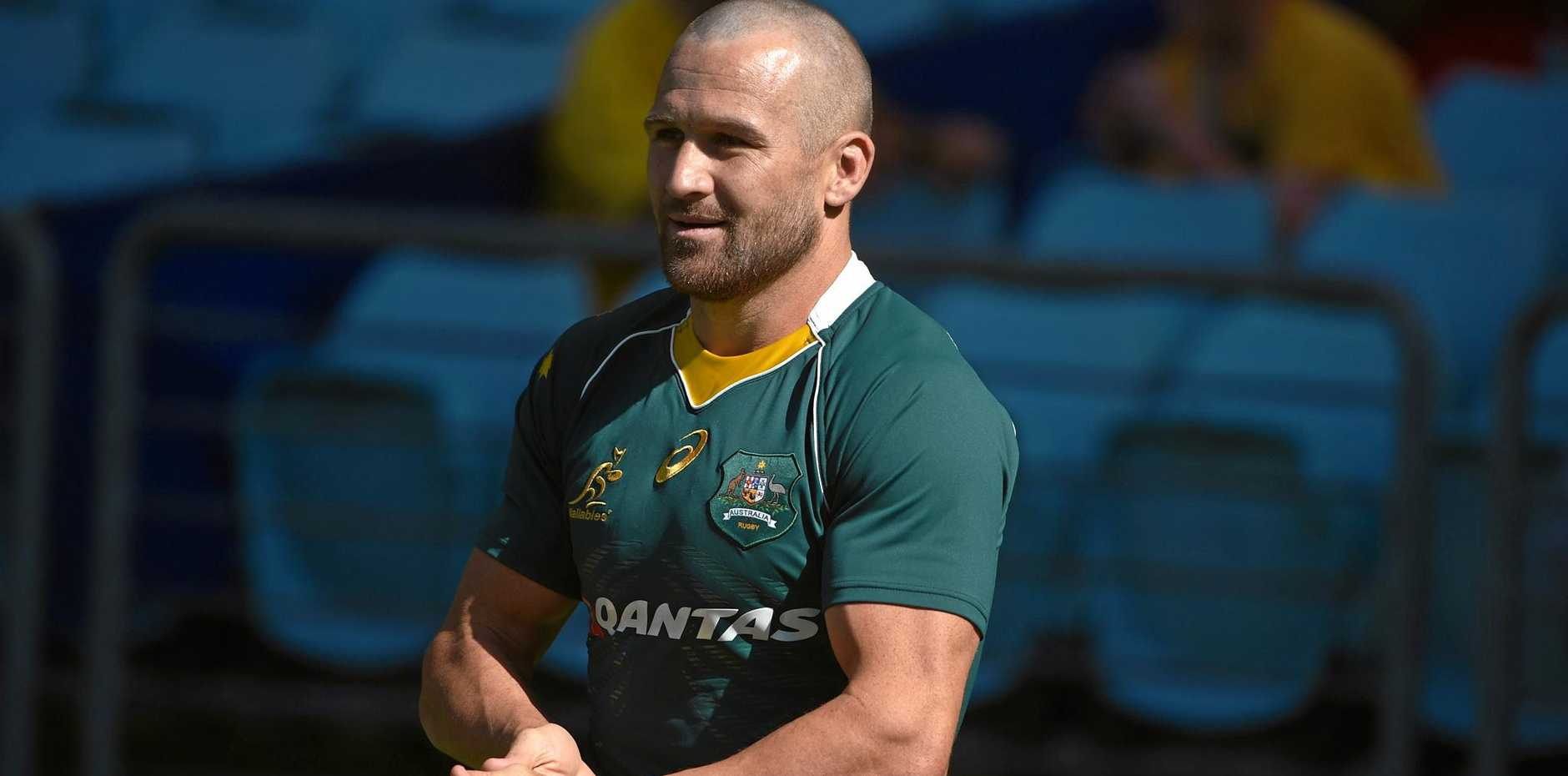 Wallabies centre Matt Giteau during a Wallabies training session.
