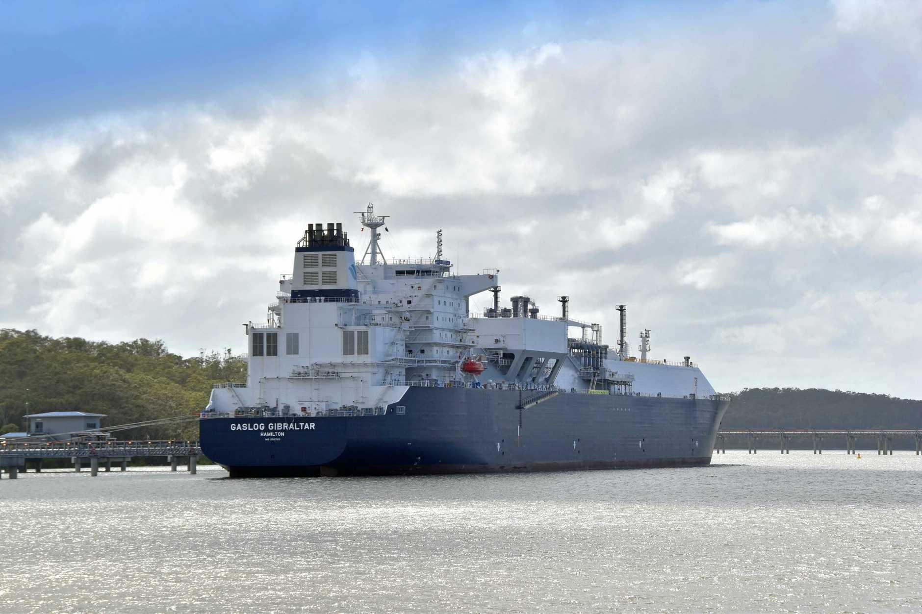 QGC Curtis Island200th LNG ship.
