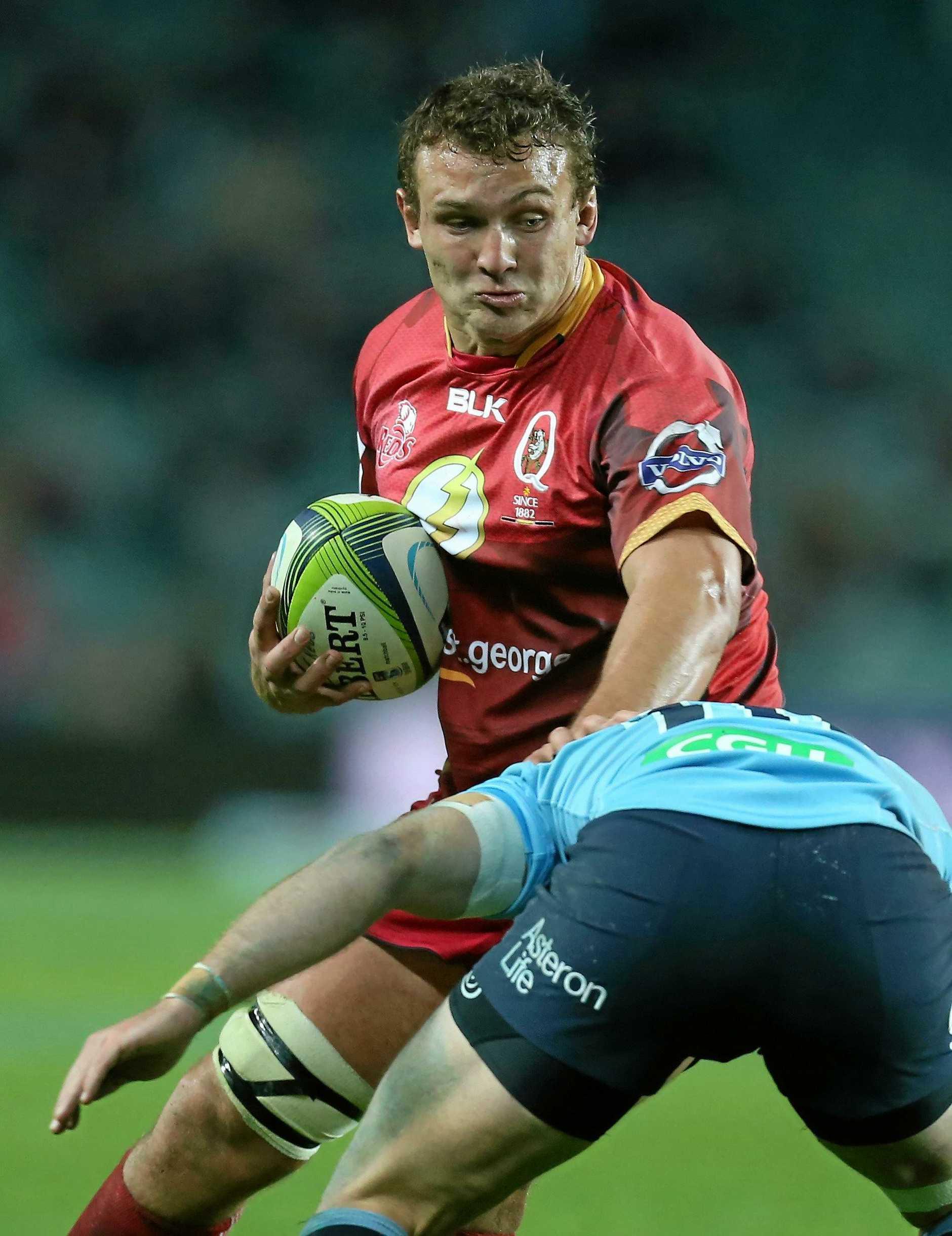 Jake Schatz in action for the Queensland Reds.