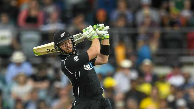 New Zealand batsman Martin Guptill in action.