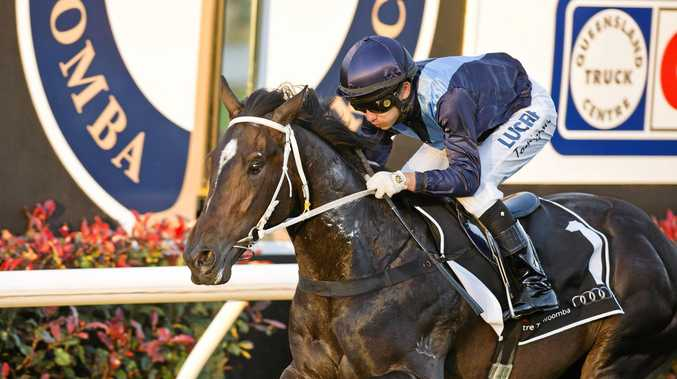Pure Luck and Nozi Tomizawa completing their win in last September's Pat O'Shea Plate at Clifford Park.