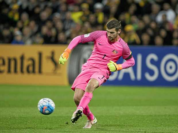 Mathew Ryan in action for the Socceroos.