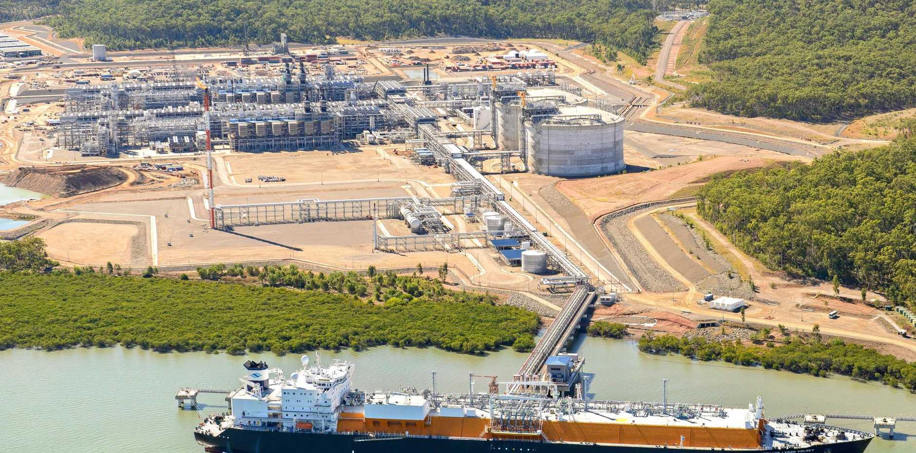 QCLNG have started exporting Train 2 gas from Gladstone.   Photo Contributed