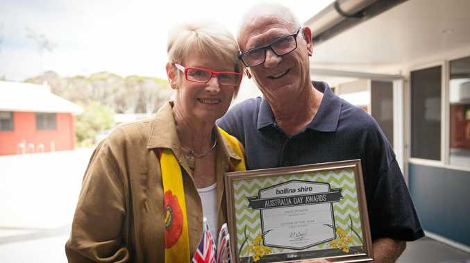 PROUD MOMENT: Ballina Shire Citizen of the Year, Doug Stinson, with Leslie Stinson.