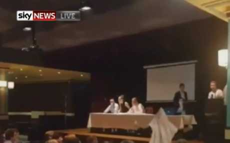 Protesters crash NSW young Liberals meeting
