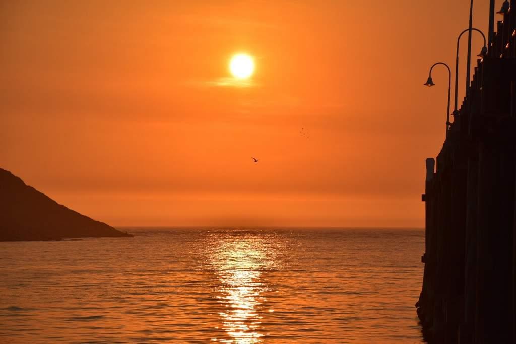 Sun rise scenes near The Jetty at Coffs Harbour.