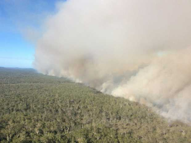 The Fannings Trail fire east of Grafton.