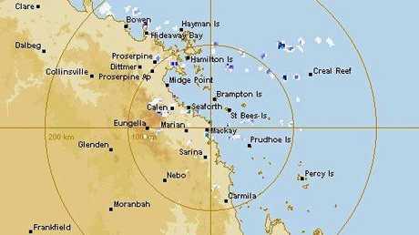 The BOM 256km radar on Wednesday morning.