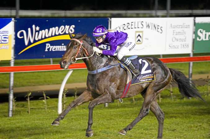 Apprentice Ruby Ride steers Jumbo Prince to victory in an early Clifford Park career win.