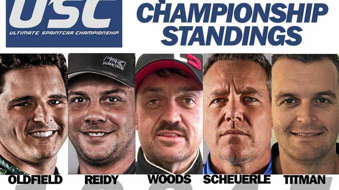 Queensland Ultimate Sprintcar Championships leaders.