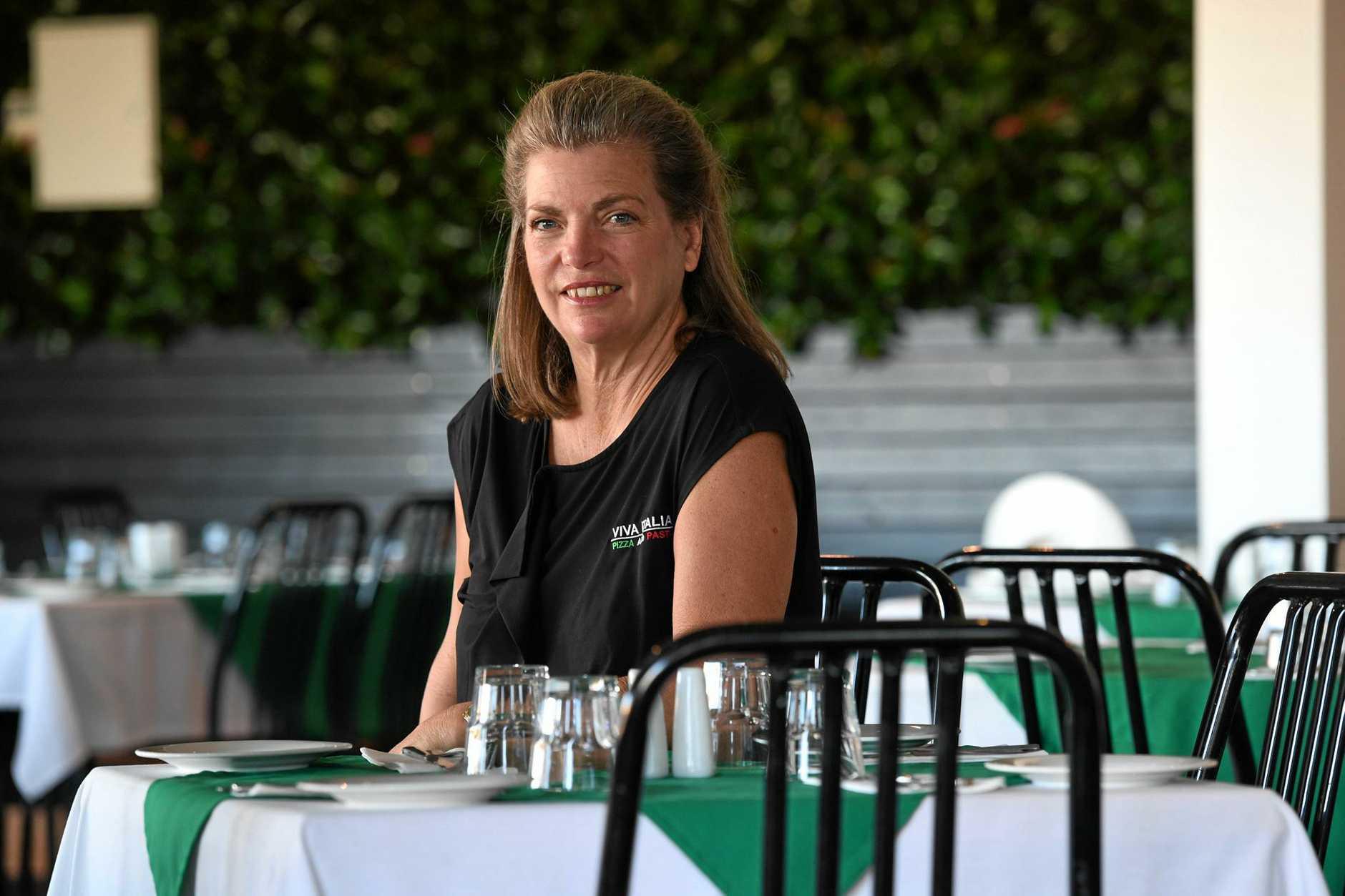 NEW VENTURE: Viva Italia manager Helen Martin inside the newly refurbished retaurant.