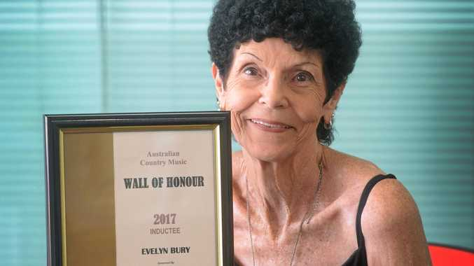 HONOURED: Evelyn Bury was inducted into the Australian Country Music Wall of Honour at Tamworth last week.
